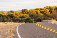The road into fall Royalty Free Stock Photography