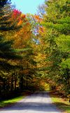 Road in Fall. In Southern Quebec stock photos