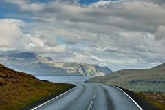 A road from Far Oer island. Faer Oer royalty free stock photos