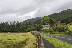 Road and Farmhouse near Grasmere Stock Image