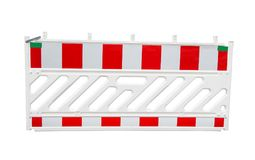 Road fence isolated. On white background royalty free stock photos