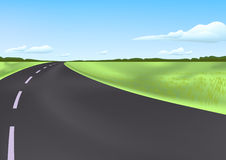 Road in the field. Ial illustration Stock Photo