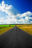 Road on a field Royalty Free Stock Photography