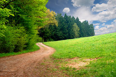 Road in the field Royalty Free Stock Photos