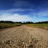 Road in the field. Royalty Free Stock Photos
