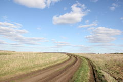 Road in field Royalty Free Stock Photo