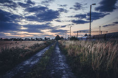 Road in field Royalty Free Stock Photography