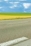 Road and fields Royalty Free Stock Photography