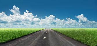 Road in fields Stock Photography