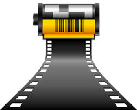 Road of film. Vector: road of film, black and yellow Royalty Free Stock Photography