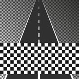 Road with finish flag on transparent background. Eps10. Vector illustration. Road with finish flag on transparent background. Eps10. Vector illustration Royalty Free Stock Image