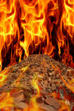 Road in fire Royalty Free Stock Images