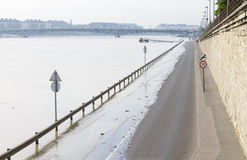 Road flood in the city Royalty Free Stock Photos