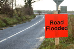 Road Flooded Royalty Free Stock Photos