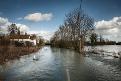 Road flooded Stock Images