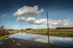 Road flooded Royalty Free Stock Photo