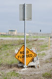 Road flooded sign Royalty Free Stock Images