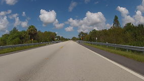 Road in Florida stock footage