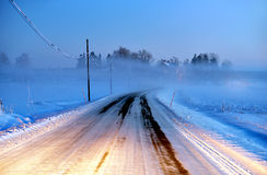 Road in fog Stock Photography