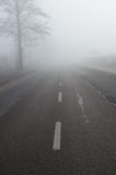 Road in fog Royalty Free Stock Photo