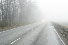 Road fog Stock Images