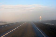 Road fog Royalty Free Stock Photo