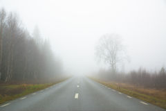 Road in fog Royalty Free Stock Photography