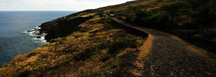 On the road in Fogo Royalty Free Stock Photo