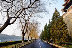 Road beside the Forbidden City. Forbidden City in Beijing China Royalty Free Stock Photo