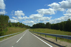 Road in the forest. Landscape with road in the forest Royalty Free Stock Images