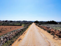Road on Formentera Royalty Free Stock Photography