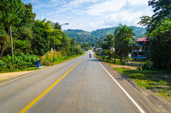Road in forrest. Road in the forrest, Thailand Royalty Free Stock Photo