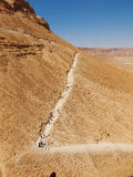 Road in fortress Masada, Israel Royalty Free Stock Images