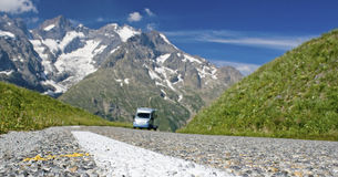 Road in french Alps. France. Royalty Free Stock Image