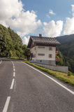 Road of the French Alps Royalty Free Stock Photo