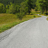 Road in French Alps Royalty Free Stock Image