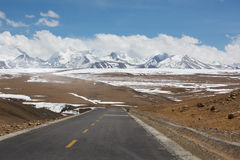 Road of Friendship in Tibet - Going to Kathmandu Stock Photography