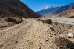 Free Road From Jomsom To Kagbeni Royalty Free Stock Photos - 102350268