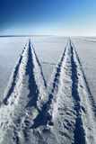 A road on a frozen lake Royalty Free Stock Photo