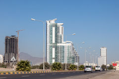 Road in Fujairah City. United Arab Emirates royalty free stock photos