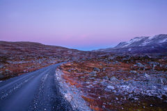 Road at Gamle Strynefjellsvegen, National tourist road, Norway Royalty Free Stock Photography