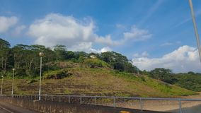Road in Gampola, Sri Lanka. Road by the mountainside in Gampola district Royalty Free Stock Image