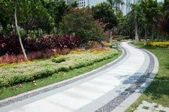 Road in garden Stock Images