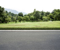 Road garden background stock photography
