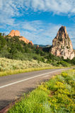Road through Garden Of The Gods Stock Photography