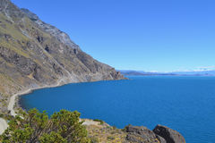 Road on General Carrera Lake, Chilean Patagonia Royalty Free Stock Image