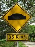 Road girder sign Stock Photo