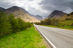 Road into Glen Coe Stock Photos