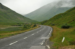 Road through Glencoe Royalty Free Stock Photography