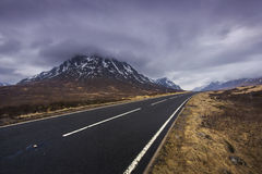 Road through Glencoe, Highlands of Scotland Royalty Free Stock Images